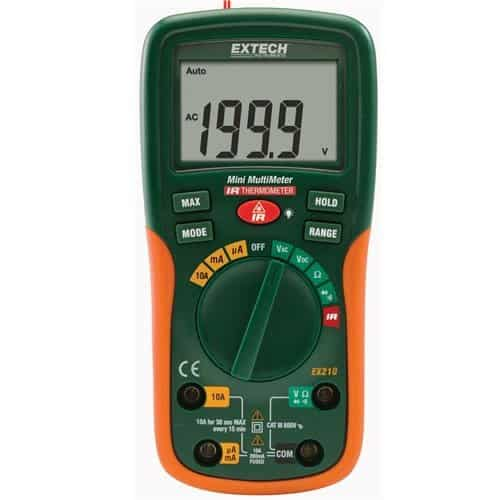 Extech EX210-NIST Digital Mini Multimeter