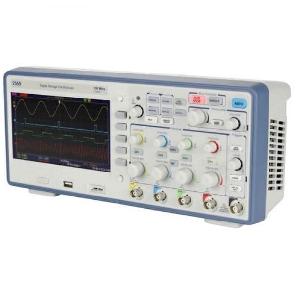 BK Precision 2555 100 MHz, 2 GSa/S, 4 Ch Digital Storage Oscilloscope