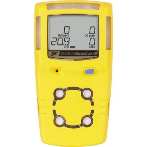 BW Technologies GasAlert MicroClip X3 [MCX3-00HM-Y-NA] 2-Gas Detector, Hydrogen Sulfide (H2S), Carbon Monoxide (CO)