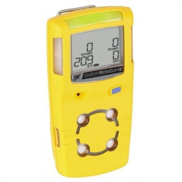 BW Technologies GasAlert MicroClip XL [MCXL-00HM-Y-NA] Multi-Gas Detector Two Gas Detector, Hydrogen Sulfide & Carbon Monoxide (H2S & CO)