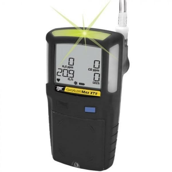 BW Technologies GasAlertMax XT II [XT-00H0-B-NA] Single Gas Detector With Motorized Pump, H2S, Black
