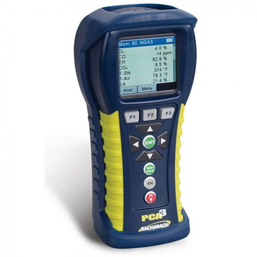 Bacharach PCA3 245 [0024-8449] Portable Combustion Analyzer With O2, CO Low-Range, CO High And Reporting Kit
