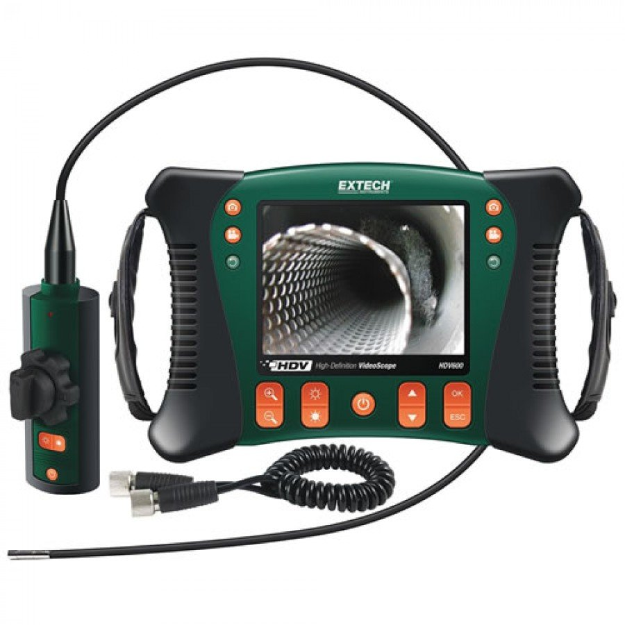 Extech HDV640W High Definition Wireless Articulating VideoScope Kit (6mm Dia./1m Semi-Rigid Cable)