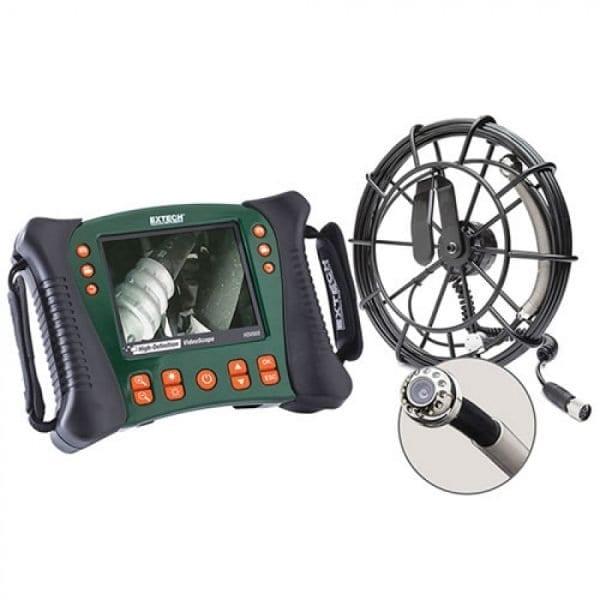 Extech HDV650-10G Plumbing VideoScope Kit (25mm Camera Head W/ 10m Fiberglass Cable)
