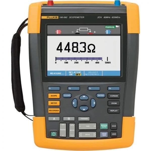 Fluke 190-062/AM/S 60 MHz, 2 Ch, 625 MS/S, ScopeMeter Oscilloscope