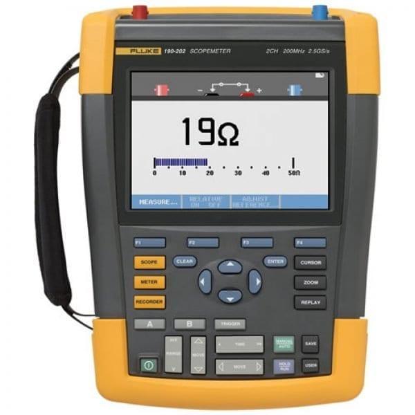 Fluke 190-202/AM 200 MHz, 2 Ch, 2.5 MS/S, ScopeMeter Oscilloscope