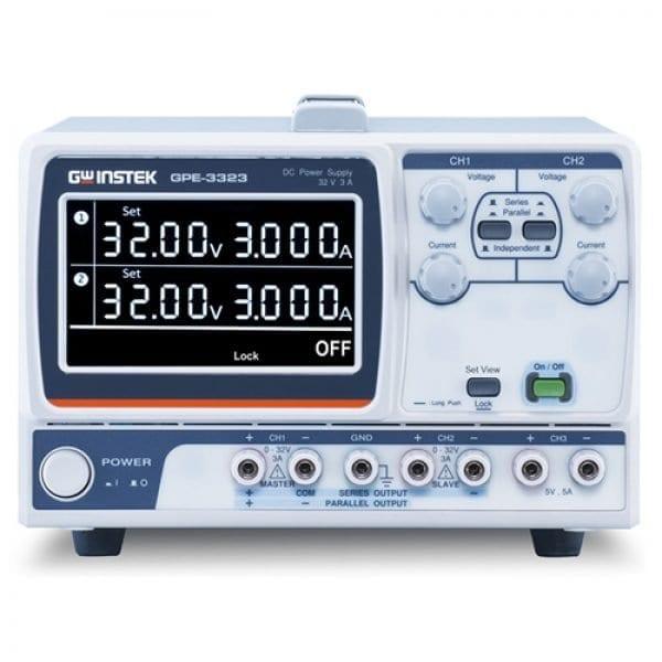 Instek GPE-3323, 3 Channels, 217W Linear DC Power Supply