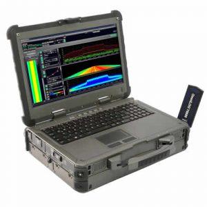 Aaronia Spectran HF-XFR PRO V5 Outdoor RF Spectrum Analyzer Laptop 1 Hz – 20 GHz