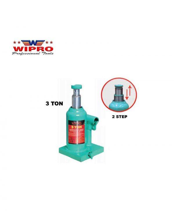 WIPRO 4T2S Dongkrak Botol 3 Ton (2 Step)