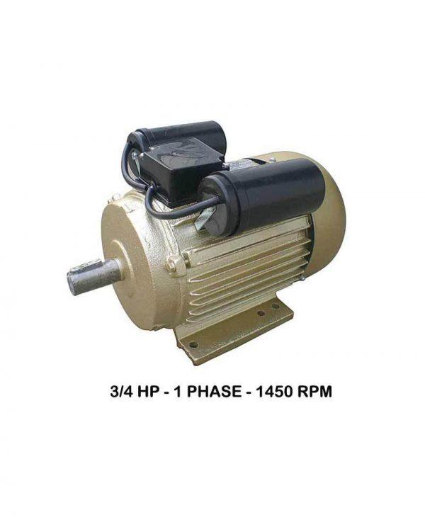 WIPRO 1Phase 1450rpm Elektromotor 3/4 HP