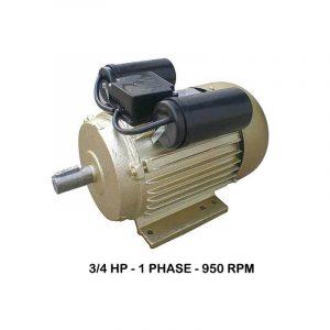 WIPRO 1Phase 950rpm Elektromotor 3/4 HP