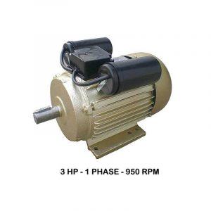 WIPRO 1Phase 950rpm Elektromotor 3 HP