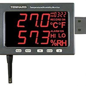 TENMARS TM185 LED Humidity and Temp Monitor