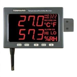 TENMARS TM185D Data Logger LED Humidity and Temp Monitor