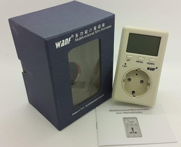 Wattmeter, Voltmeter, Kwhmeter (All in One) WANF