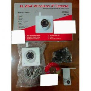 IP Camera Wireless with 300K Pixels CMOS Sensor, IR-CUT, TF Card