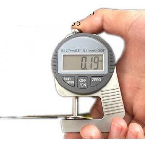 Thickness Gauge 0-12.7mm – Kertas Plastik Kain Logam
