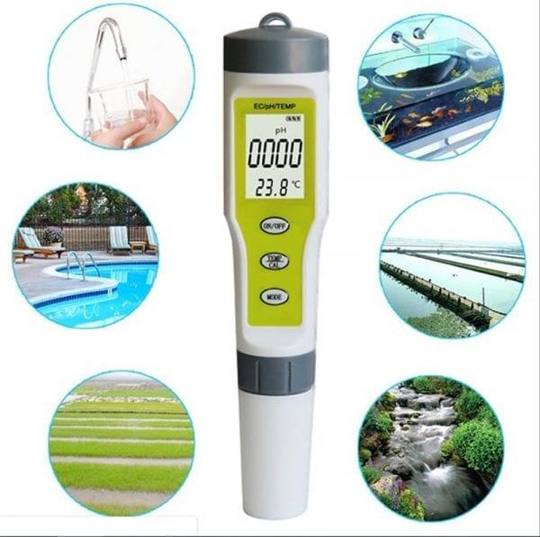 EZ9902 Waterproof PH EC Temperature Meter