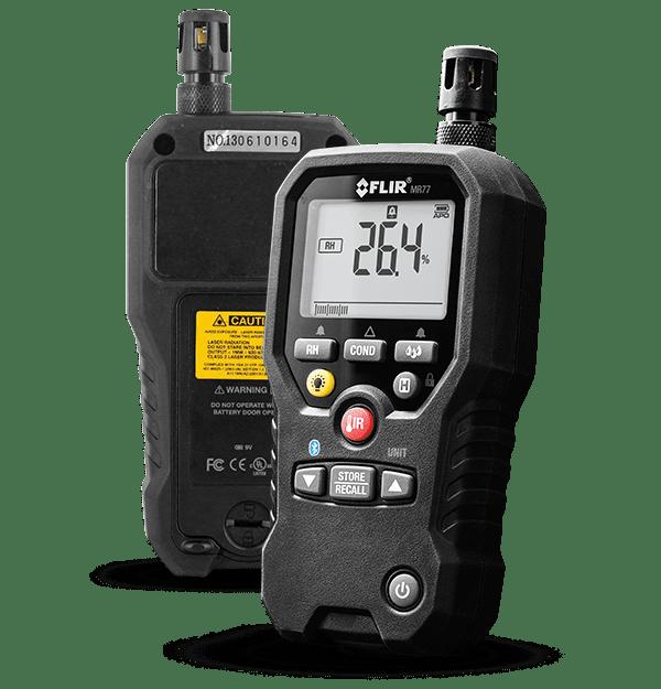 FLIR MR77 Moisture Meter, Infrared IR Thermometer, Dew Point, Humidity