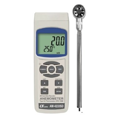 Lutron AM 4233 SD Mini Vane Anemometer