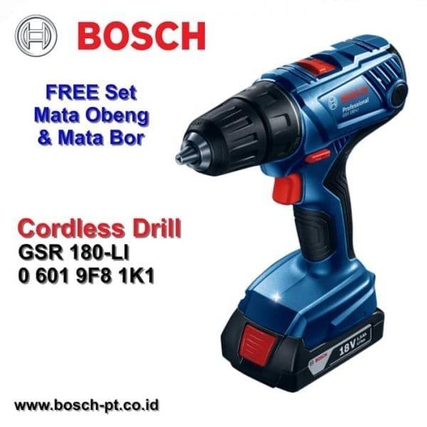 Bosch GSR 180-Li Profesional Set Mesin Bor