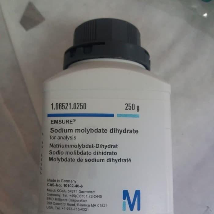 MERCK 1.06521.0250 Sodium Molybdate Dihydrate for Analysis 250 gram
